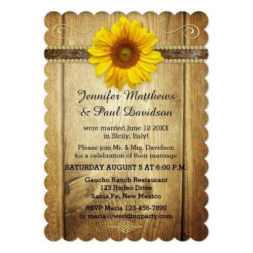 1015 best SUNFLOWER WEDDING Invitations images on Pinterest