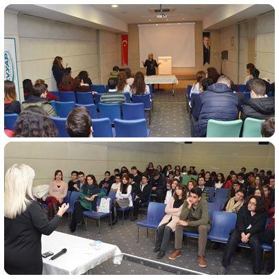 Başarılı avukat Deniz Değer, Özel Mürüvvet Evyap Koleji ve Fen Lisesi öğrencilerine hukuk fakültesi, avukatlık, hakimlik - savcılık meslekleriyle ilgili bir seminer verdi.