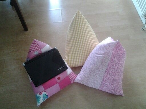 ipad òr laptop cushions. Plain or patchwork