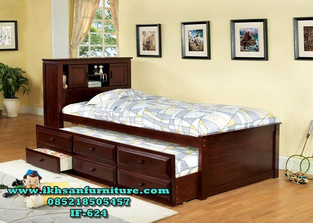 Tempat Tidur Sorong Murah Minimalis Terbaru IF-624
