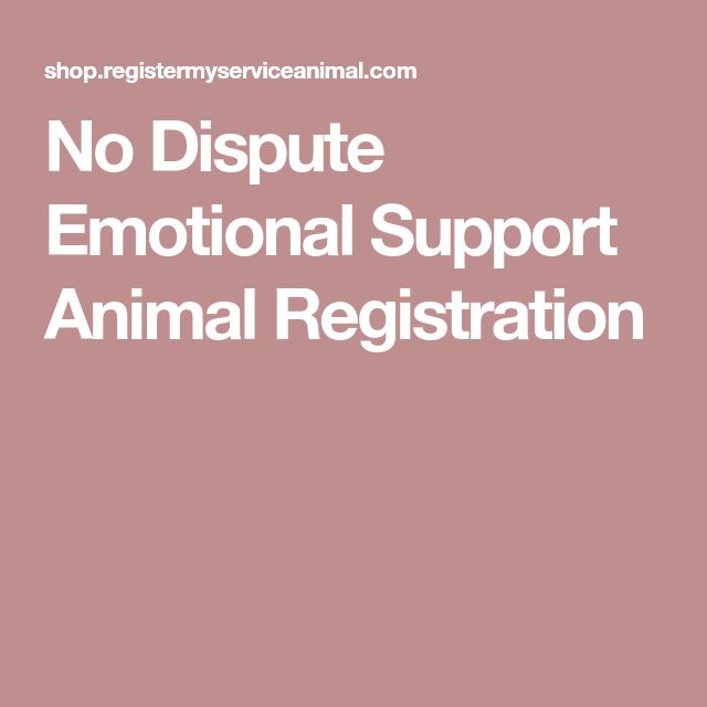 No Dispute Emotional Support Animal Registration