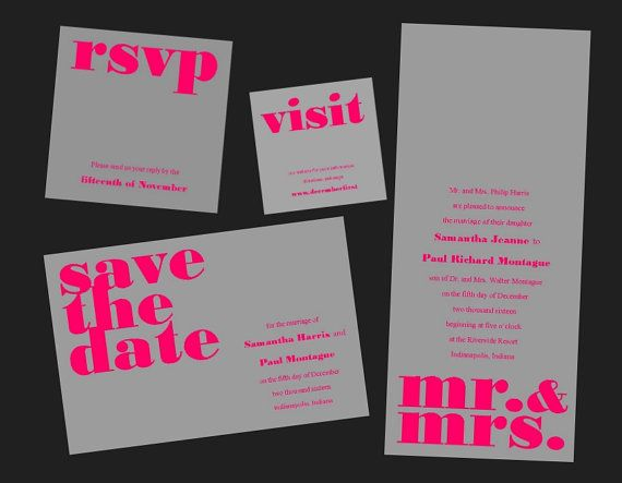 Ready To Print Wedding Invitations: Best 25+ Typography Invitation Ideas On Pinterest