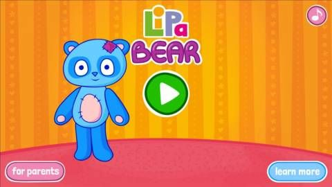 Lipa Bear - Android app for kids - a simple game for developing language skills. Original Appysmarts score: 83/100