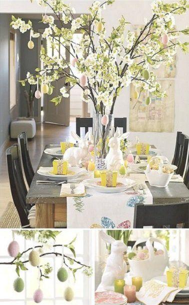 Un arbre à œufs, une astuce originale pour créer un centre de table surprenant