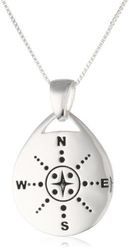 "Sterling Silver ""Those Who Wander Are Not Necessarily Lost"" Reversible Pendant Fashion Bug Necklace, 18"" www.fashionbug.us"