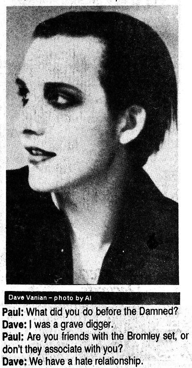 Dave Vanian hates the Bromley Contingent The Bromley Contingent | Tumblr