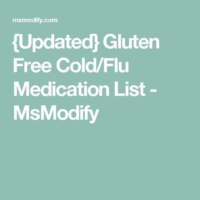 {Updated} Gluten Free Cold/Flu Medication List - MsModify