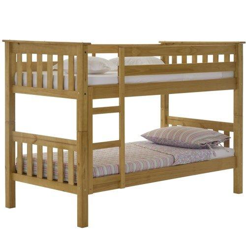 Verona Design Barcelona Solid Pine Short Single Bunk Bed - 90x160cm