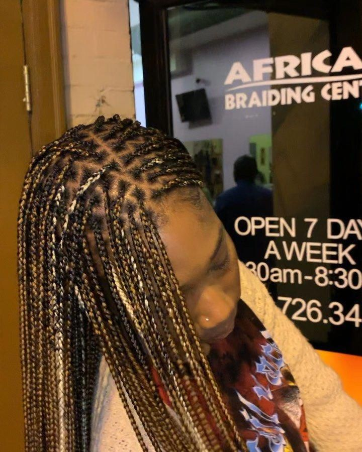 African Braiding Center On Instagram Style Knotless Braids Trusttheprocess Vib Hair Styles Braided Hairstyles Natural Hair Styles