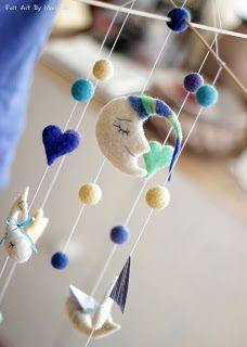Felt Art By Mariana: Custom Baby Mobile - Needle felted Baby Mobile