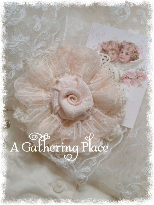 Tattered Lace Roses - A Gathering Place