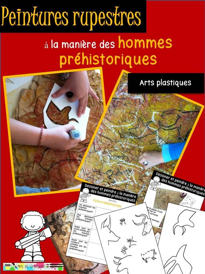 ressources artistiques et éducatives: PEINTURES RUPESTRES : dessiner et peindre à la manière des hommes préhistoriques