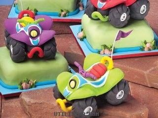 lovely tutorials: How to make a cute lil Four-wheeler cake topper :)