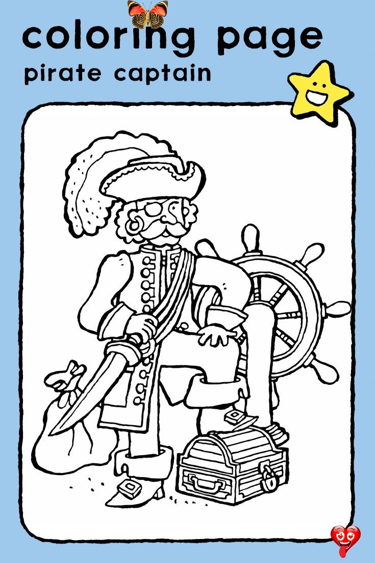 Pirate Captain Kiddicolour Pirate Captain Coloring Pages Drawing Picture Kids People And Jobs Pirates Pirate In 2020 Coloring Pages Coloring Pictures Captain