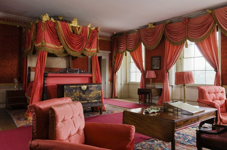 The State Bedroom, said to have been prepared for a visit by George IV in 1821