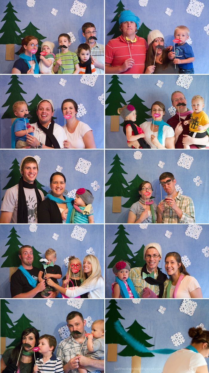 about him + her: Christmas in July Party - photo booth