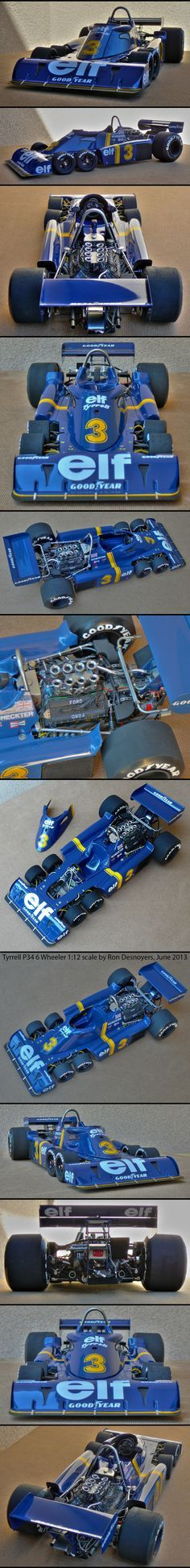 Tyrrell P34 6 Wheeler 1:12 Scale Tamiya model by *Autographix on deviantART