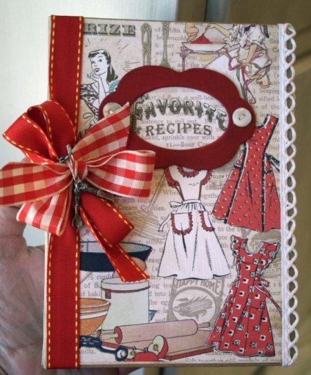 "Reciped Book Domestic Goddess Creative Scraps Double Sided by craftysecretsetsy. $3.50, via Etsy. Album is 5 x 7"" Maya Road Binder Album"