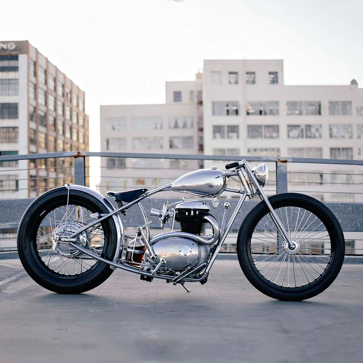 Max Hazan's incredible hand-fabricated custom, built around a vintage BSA A50 engine. For a daily dose of shots like this, follow the Bike EXIF Instagram account: http://instagram.com/bikeexif