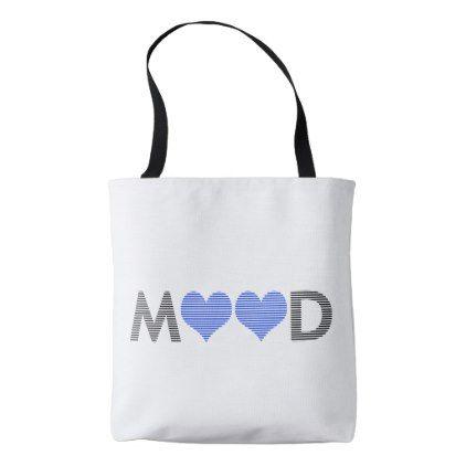 Mood - heart - love - black and blue. tote bag - individual customized designs custom gift ideas diy
