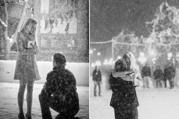 Magical Proposal in the Snow | Christmas Engagement |
