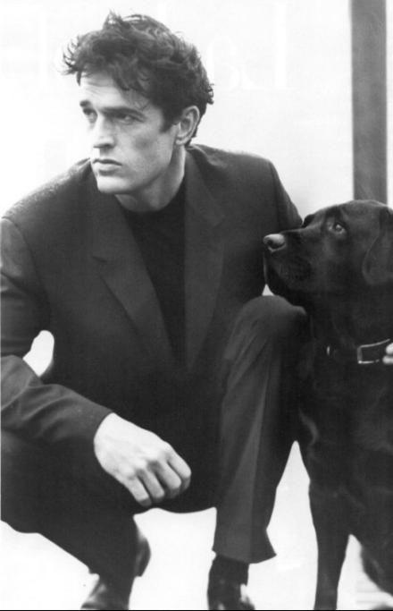 Rupert Everett and friend