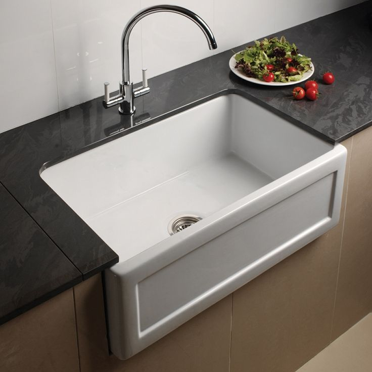 kitchen taps and sinks astini belfast 760 1 0 bowl recessed white ceramic kitchen 6229