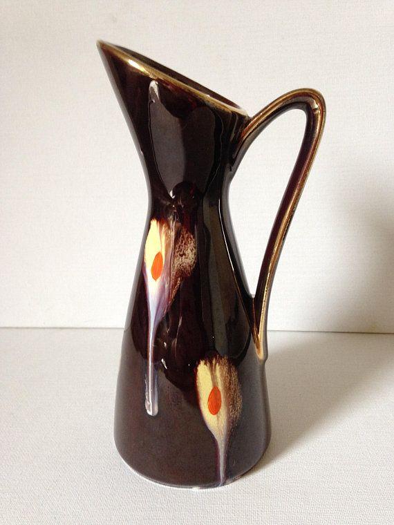 Jug Vase Ceramic Jug Retro Decor Funky Vase Modernist Vase