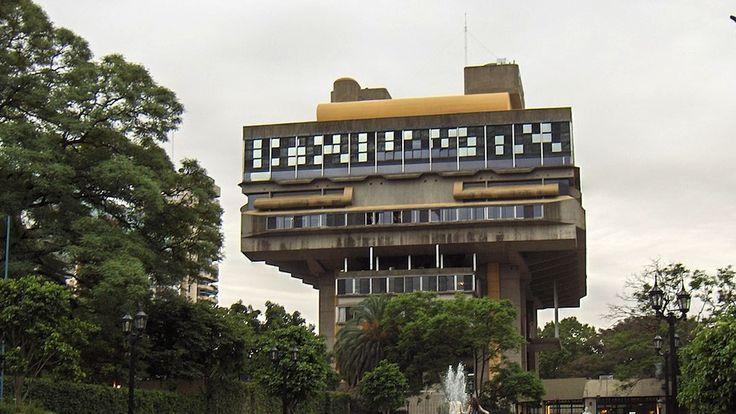 Biblioteca Nacional, Buenos Aires, Argentina (Clorindo Testa, designed in 1961, constructed between 1971 and 1992)