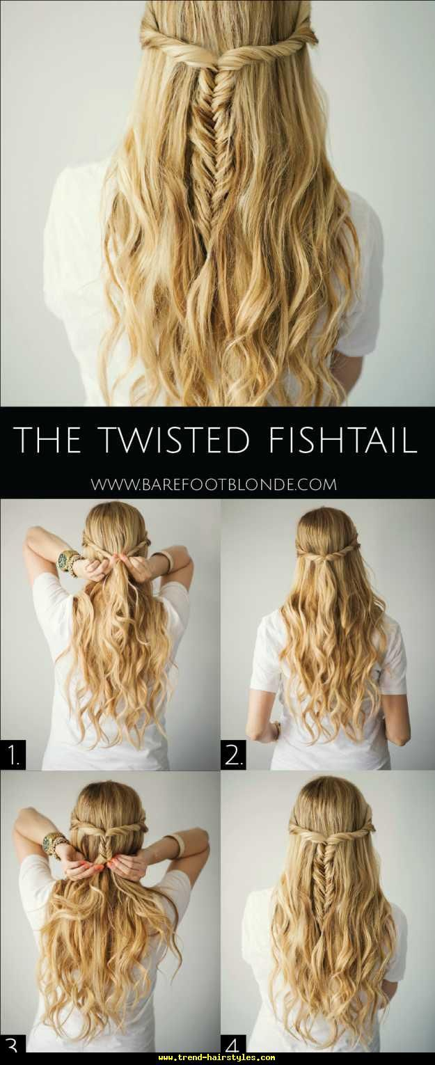 The Twisted Fishtail - http://www.trend-hairstyles.com/fashion-hairstyles/the-twisted-fishtail.html