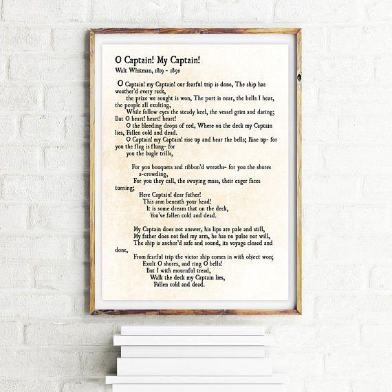 Ich Liebe Diese Geschichte Hinter Seiner Arbeit. Whitman Schrieb Dieses  Gedicht, Kurz Nachdem Präsident Abraham Lincoln Ermordet Wurde.