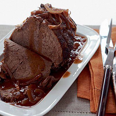 Slow Roasted Topside Beef with Porcini Mushrooms  #MightyMushrooms