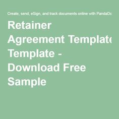 Retainer Agreement Template - Download Free Sample