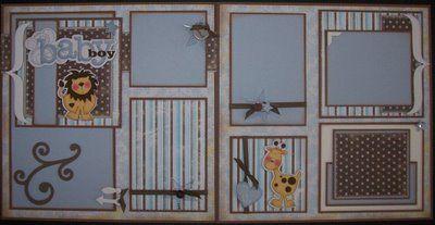 baby scrapbook pages   BLJ Graves Studio 1: Baby Boy Scrapbook Page