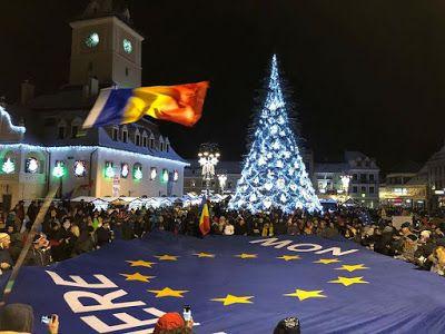 A Hír Ami Számít : A tüntetés Brassóba Romániába ma este a kormány el...