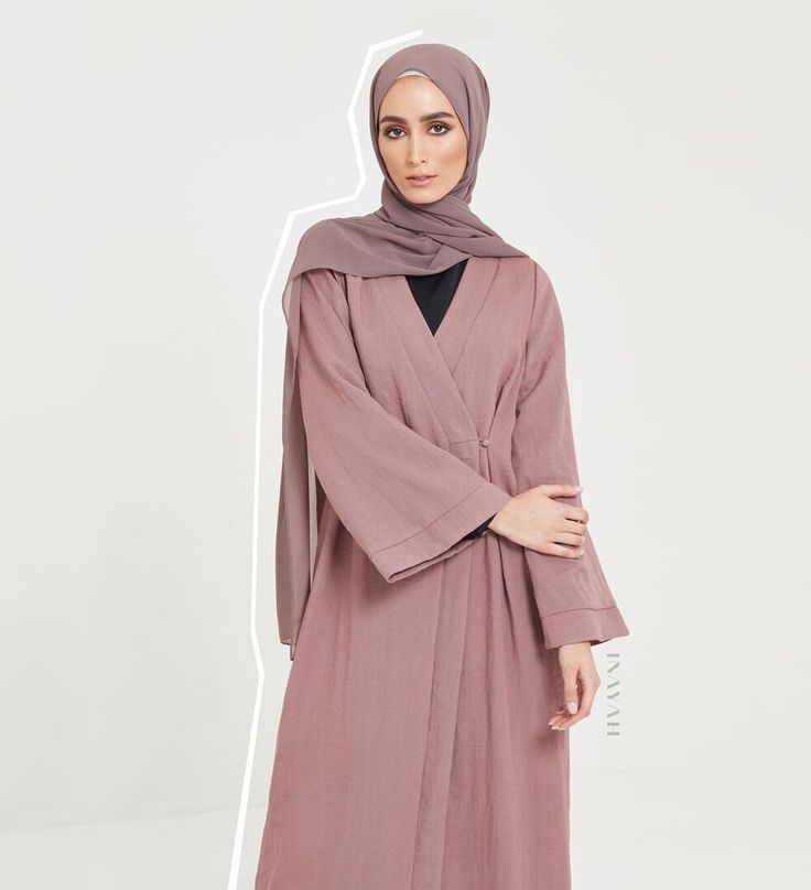 INAYAH | Kimono Collection; our Kimonos can be styled both opened and closed. A perfect addition to your transitional wardrobe! Rose Taupe Belted Kimono (also available in black) Black High Neck Midi with Slits Black Straight Leg Trousers Ash Soft Crepe Hijab Dark Grey Jersey Drawstring Hijab Cap Large Black Velvet Scrunchy www.inayah.co