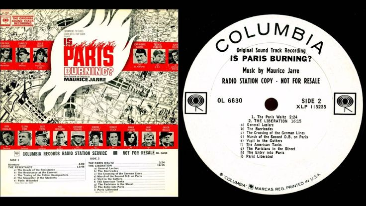 """Maurice Jarre - The Paris Waltz (from the soundtrack of """"Is Paris Burnin..."""