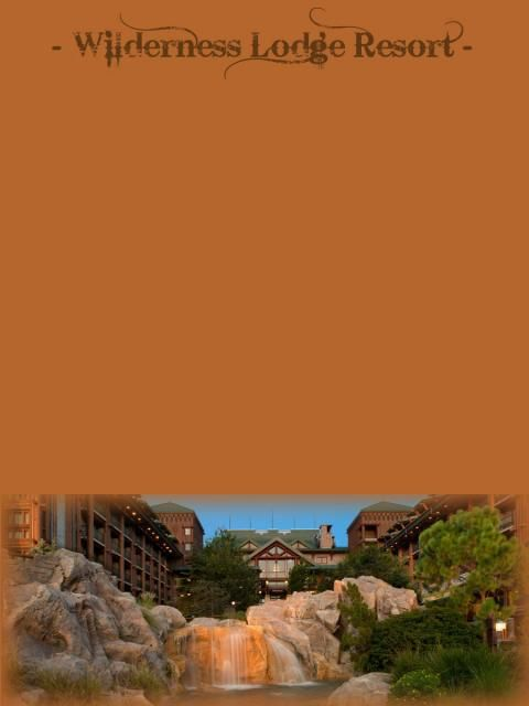 Wilderness Lodge journal card
