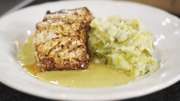 Eén - Dagelijkse kost - kabeljauw met preistoemp en beurre blanc van witbier