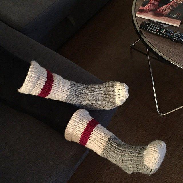 Calcetines tejidos en telar por knitsquad