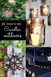 If there is one thing that can set the mood for outdoor entertaining, it's candles. Flickering firelight on a warm evening, after the sun goes down and the day comes to an end, can set a relaxing and romantic...