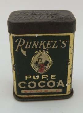 Runkel's Cocoa Free Sample Size Tin Container Canister