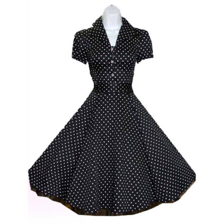 Jaren 50 jurk. Leuk model gezien bij succubus.nl