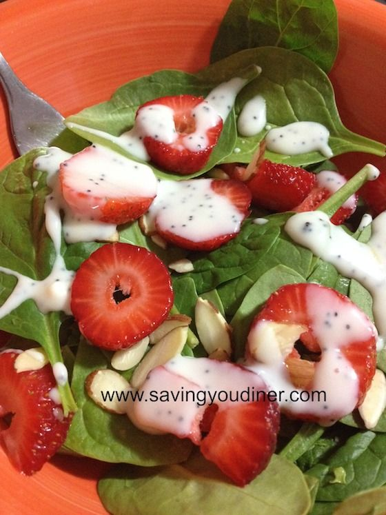 Strawberry and Spinach Salad With Poppy Seed Dressing Serve this at Easter dinner!