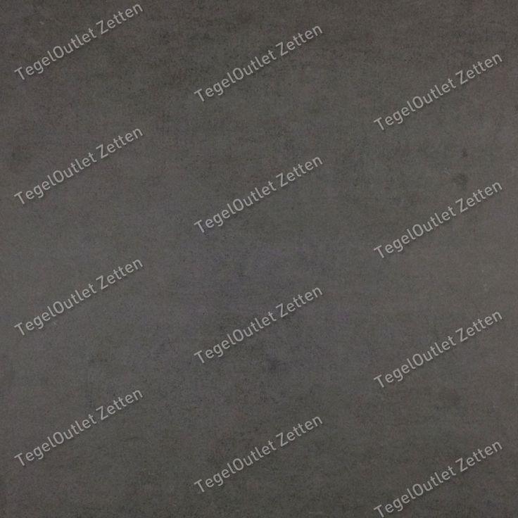 Vloertegel betonlook 60x60 zwart - De betonlook zwart 60x60 is een gerectificeerd keramische vloertegel met een betonlook uitstraling. Ideaal te gebruiken in combinatie met de 30x60 en bijhorende wandstroken in 3 verschillende afmetingen. Geschikt voor vloerverwarming en toepasbaar in iedere ruimte in uw huis, zowel op de vloer als op de wand.
