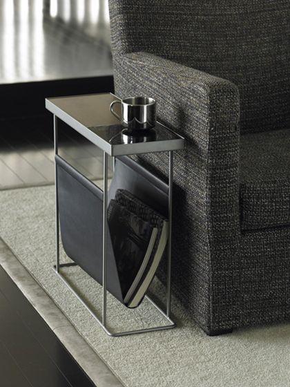 Stylish end table with magazine storage
