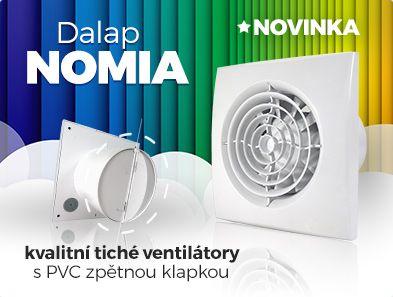 Řešíte odvětrání koupelny nebo toalety? Nechcete aby Vás ventilátor při chodu rušil? Vyzkoušejte naší NOVINKU tiché ventilátory do koupelny Dalap NOMIA s plastovou zpětnou klapkou. http://bit.ly/dalap_nomia
