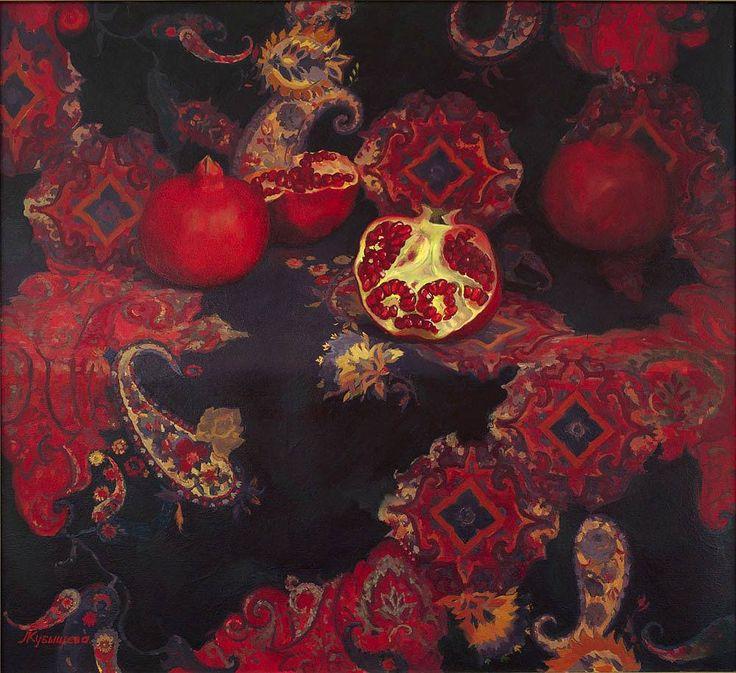 """the-master-pieces: """" Pomegranates by Elena Kubysheva """""""
