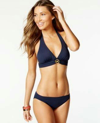 Michael Kors navy triangle bikini