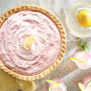 The perfect summer dessert—Pink Lemonade Pie (from Eagle Brand)
